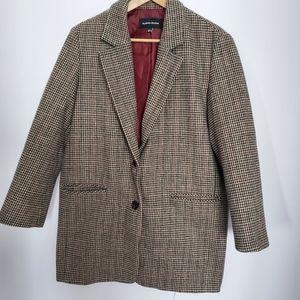 Plastic Island wool blend oversized blazer sz 4
